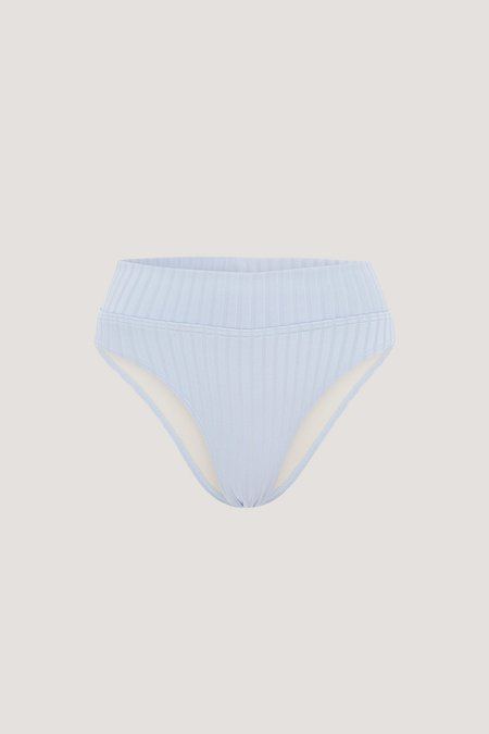 PEONY Cornflower High Waisted Bikini Bottom - Light Blue