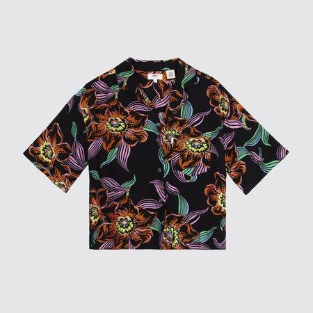 Levi's Mahina Linear Tropical Caviar Print Shirt - Black