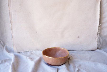 The Object Enthusiast Rimmed Fruit Bowl - Matte Pink/Gold