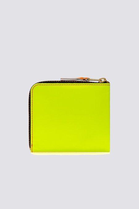 Comme des Garçons Super Fluo Half SA3100SF ZIP WALLET - Pink/Yellow