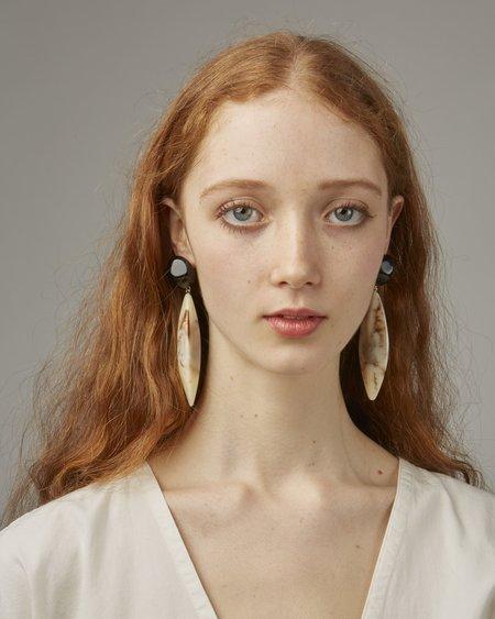 Valet Margot Earrings - Black/Ivory