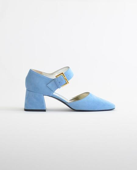 16f454b11 Suzanne Rae Mary Jane with Bow - Blue Suede ...