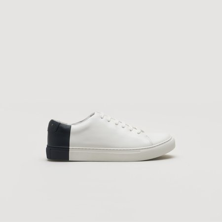 THEY Two-Tone Low Sneakers - Off White/Navy