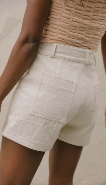 Kordal Recycled Cotton Denim Short - Natural