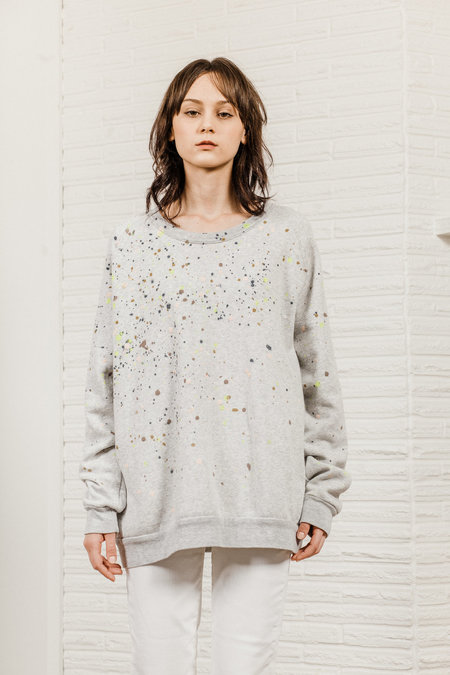Kate Towers dottie sweatshirt - Light Heather Gray