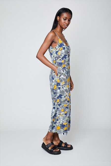 Native Youth The Geo Flora Cami Jumpsuit