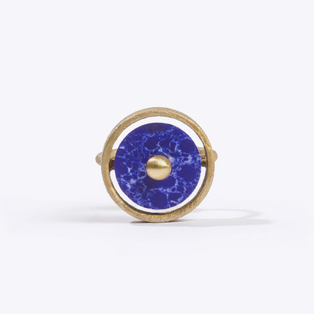 Metalepsis Projects Disc Ring - Blue Stone