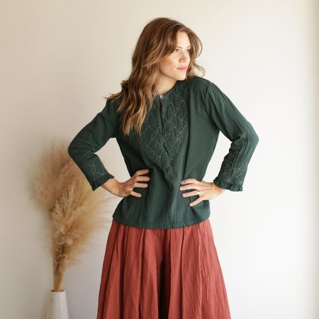 Atelier Delphine Meadow Top - Rainforest Quilted
