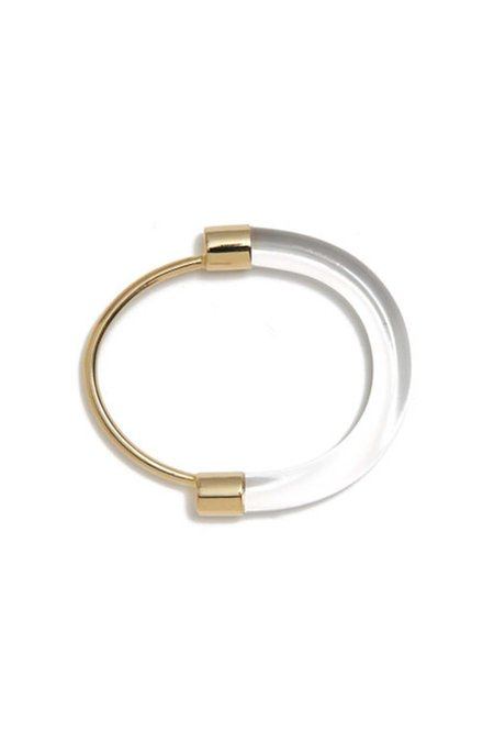 Lady Grey Fraction Lucite Bracelet - Clear