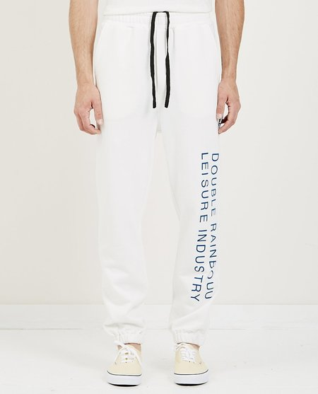 Double Rainbouu EZ PANT - SMOKING DRINKING WHITE