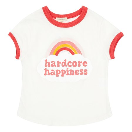 KIDS Hundred Pieces Hardcore Happiness Shirt - PINK