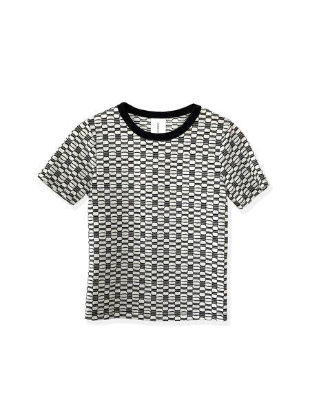 Oori Ott Coco Jacquard Set Shirt - Black/White