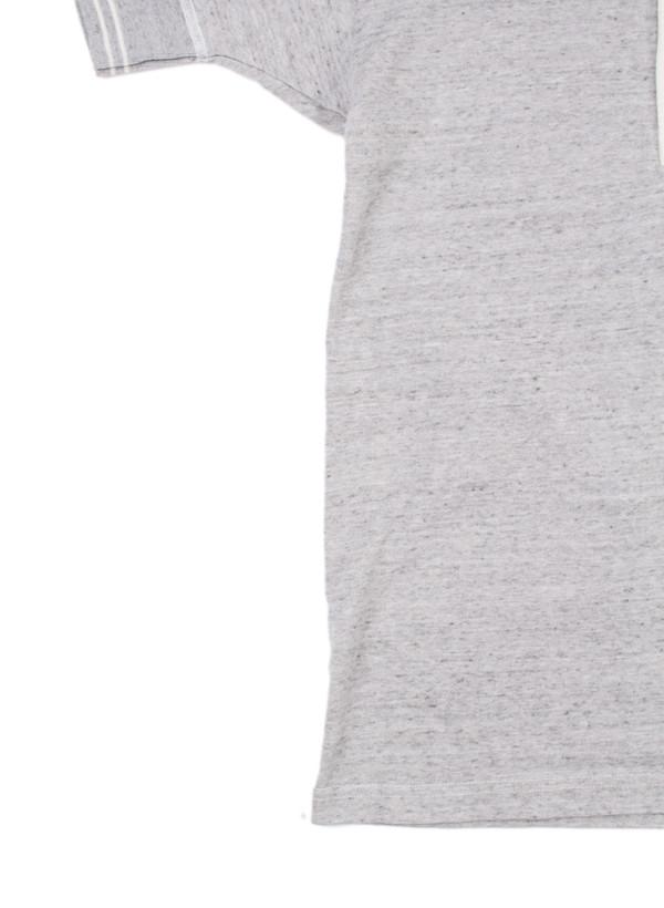 Men's Homespun Standard Short Sleeve Henley Grey