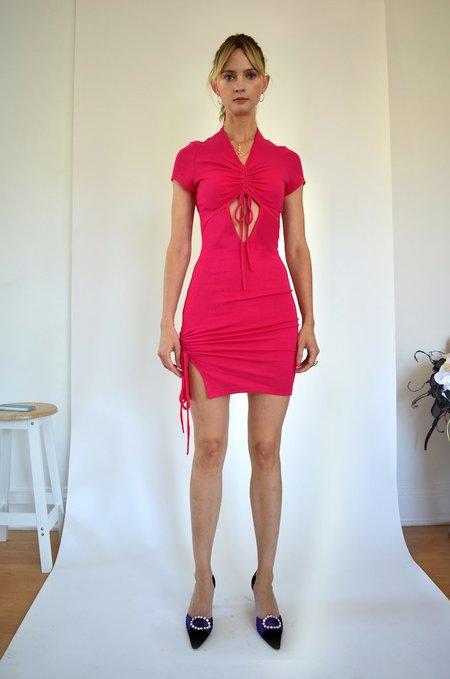 Oori Ott Peekaboo Petra Dress - Magenta Rose