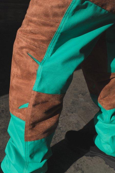 Mackintosh 0004 Technical Trouser - Chestnut/Turquoise