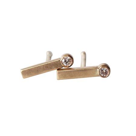 Rebecca Mir Grady Half Dash Diamond Earrings - Gold