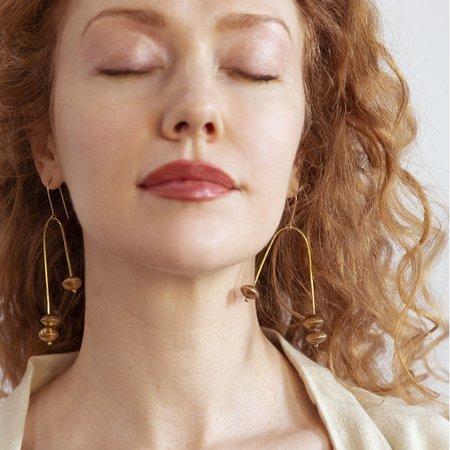 Moon and Arrow Librae Earrings - Brass