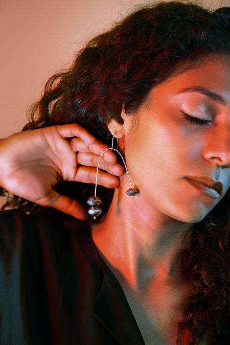 Moon and Arrow Librae Earrings - Silver