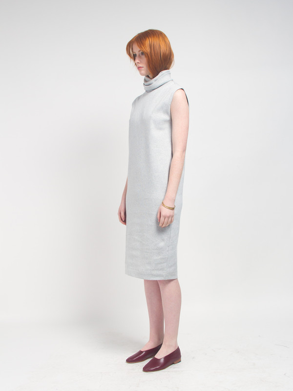 Kowtow Turning Pages Dress Grey
