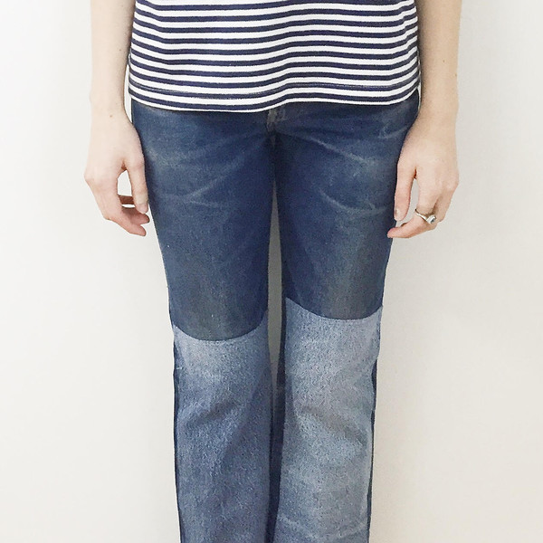B Sides Jeans - Levi's 517 Patchwork Denim Jeans