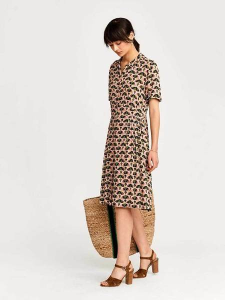 Bellerose Sorya Print Dress - Pink/Khaki