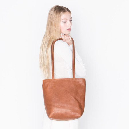 Erin Templeton BYOB Square Bag in Black and Caramel