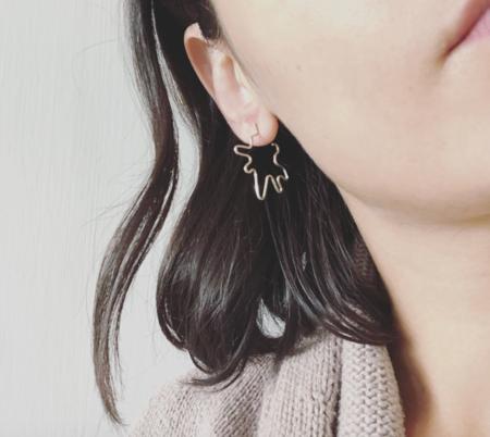 Golden Year Splat Earrings - Silver