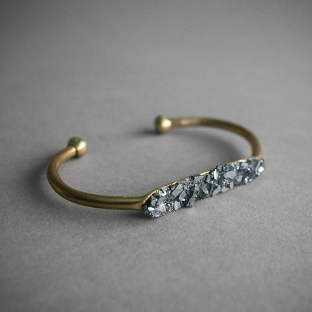 Deadia Galena Cuff Bracelet - Brass