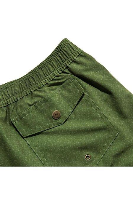 TAYLOR STITCH Yuba Swim Trunk - Green Print