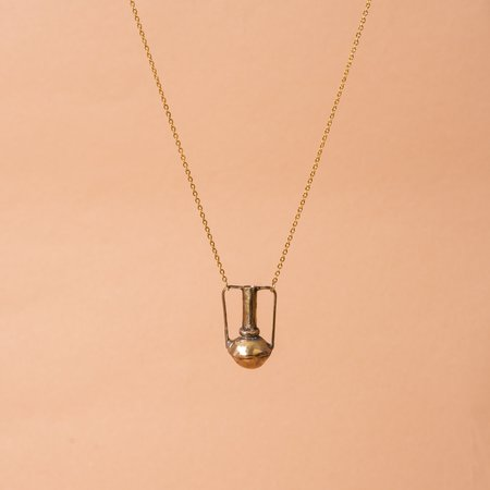 Heron and Lamb Merchant Vessel Necklace - GOLD