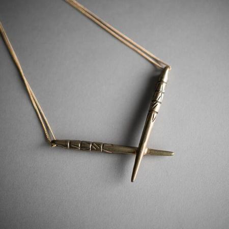 Deadia Multnomah Necklace - Brass
