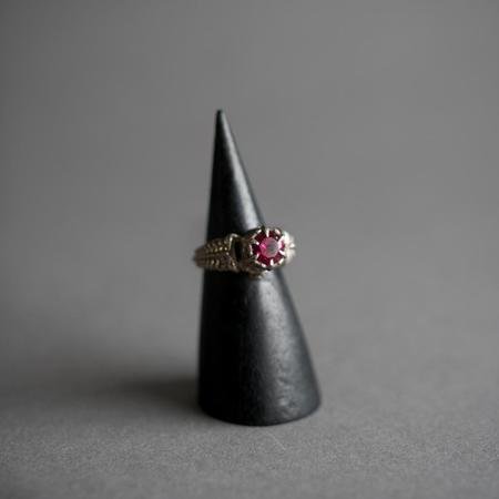 Omnia Silver Arcana II Ring - Synthetic Ruby
