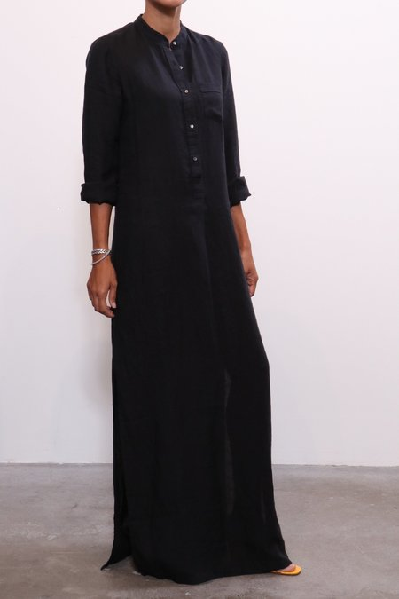 Nili Lotan Galabeya Beach Dress - Black