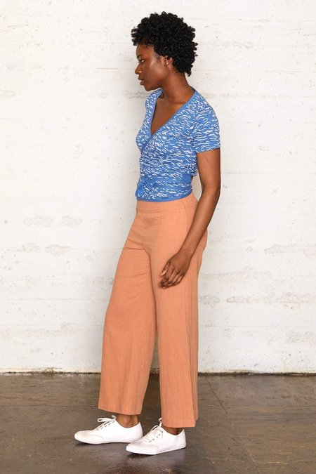 North Of West Wrap Top - Waves