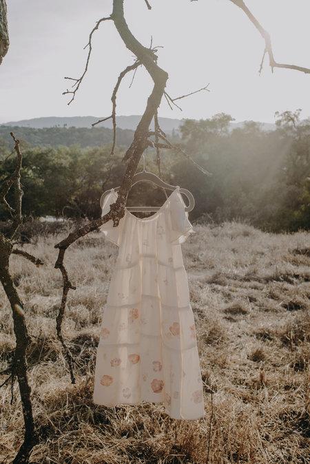 Kids Petit Mioche Silk Dress - Eco-Printed