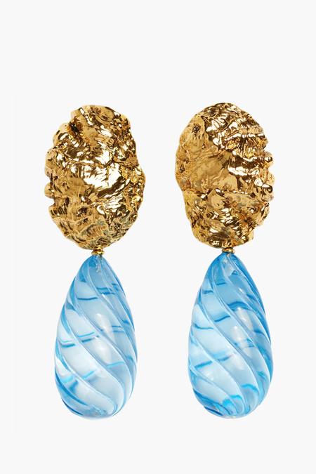 Lizzie Fortunato Whirlpool Earrings - blue