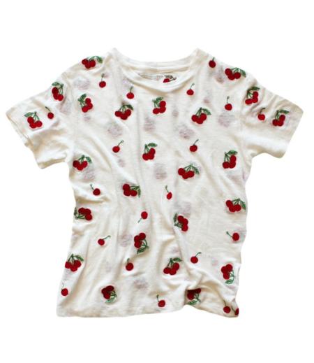 Unisex Banner Day Cherries T-Shirt - Bone