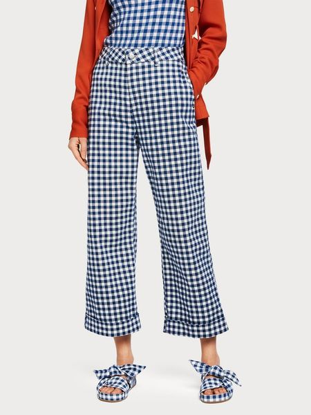 Maison Scotch Gingham Trousers