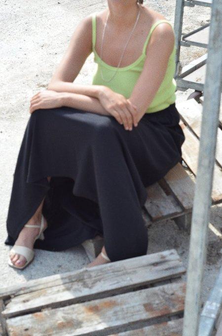 Signe Minimalist Rib Skirt - Black