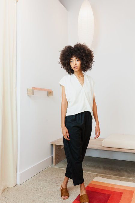 Miranda Bennett Silk Noil Petite Everyday Top - Natural