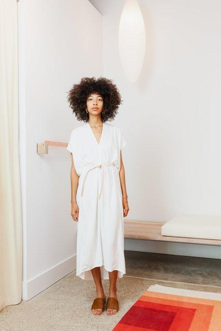 Miranda Bennett Rayon Petite Knot Dress - White