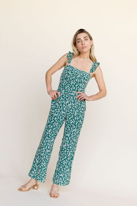 BETWEEN TEN Piper Jumpsuit - Green Floral