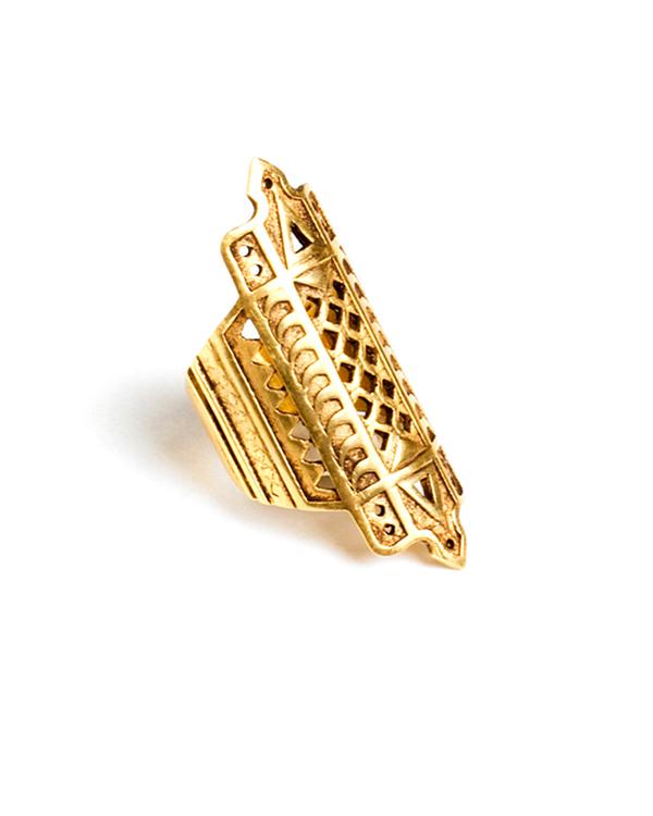 A Peace Treaty Bikku Ring in Gold