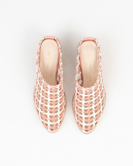 """""""INTENTIONALLY __________."""" Caps Heels - Pink/White"""