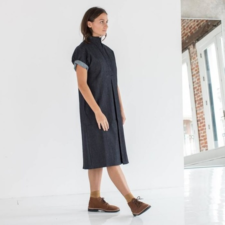 Sara Ruffin Costello Smock Dress - DENIM