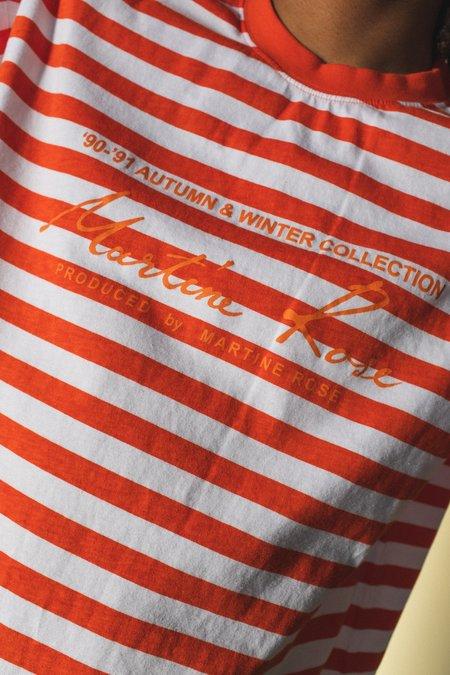 Martine Rose Oversized Guess Logo Tee - Orange Stripe