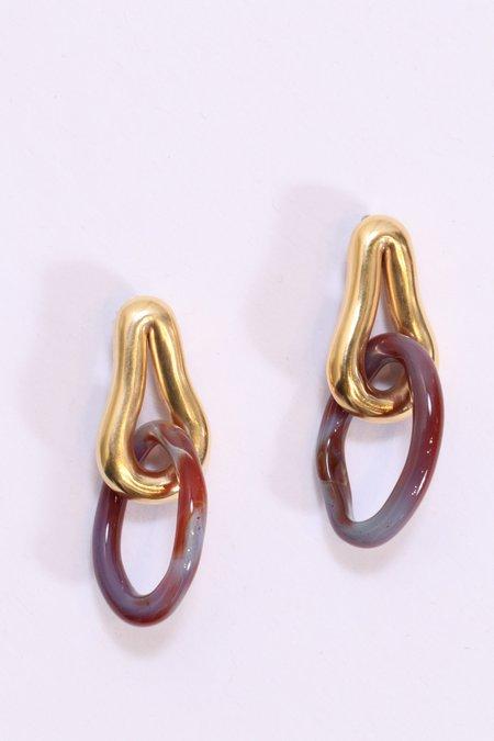Leigh Miller Small Lava Earrings - Gold