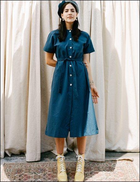FME Apparel Margie Tee Dress - Blue Collar