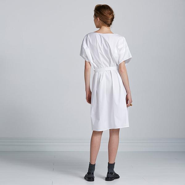 Kowtow Opposites Attract dress - white