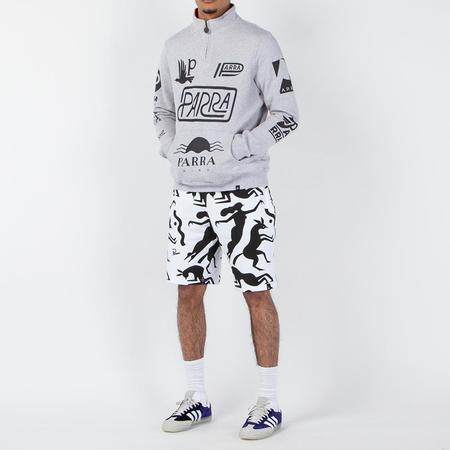 by Parra Sponsored Quarter Zip Sweater - Ash Grey
